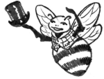 Jaunty male bee with top hat